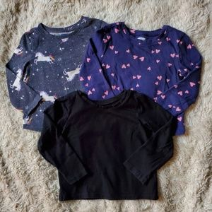 Girls lightweight long sleeve tees 18-24 mo